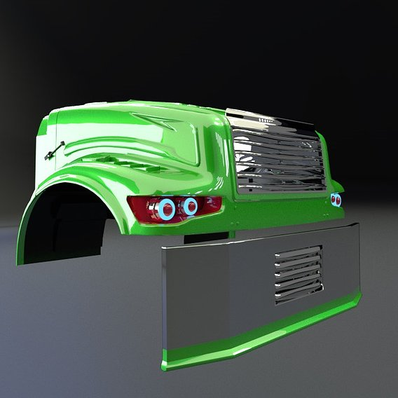 International 4700  Tuning Hood 3d model