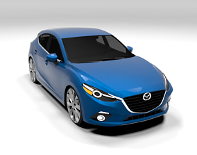 MAZDA 3 LOWPOLY 3D asset