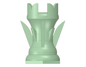 3D print model Rook piece of the chess set ZERO