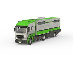 3D model Heavy trailer