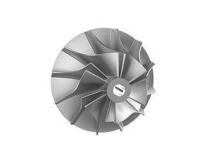 3D printable model Turbocharger inlet compressor