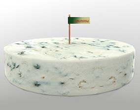Gorgonzola Cheese 3D asset