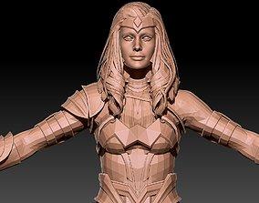 Wonder woman 3D model portrait