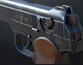 3D asset APS Stechkin automatic pistol