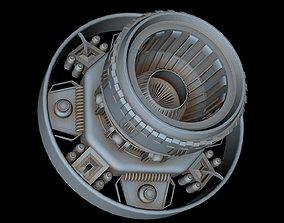 Starship engine 3D model