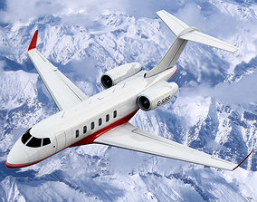 Bombardier Challenger 300 Private Jet 3D