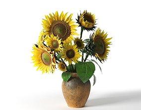 3D model Sunflower in Vase