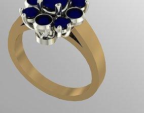 3D printable model cluster ring