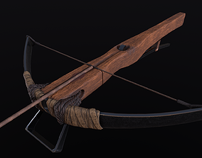 3D model LowPoly CrossBow BPR