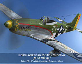 3D model North American P-51D - Miss Velma