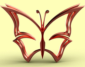 Butterfly Pendant 3D printable model