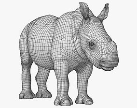 3D model VR / AR ready Rhino Baby Low Poly