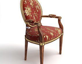 Brocade Armchair 3D