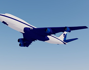 3D model Airliner lowpoly