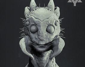 Arachnid Humanoid Bust Highpoly 3D