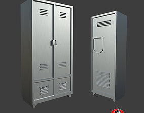 School Storage Lockers 3D asset