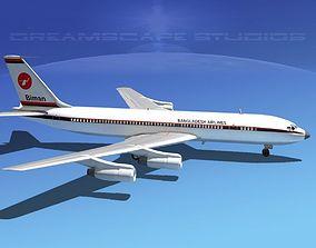 3D model Boeing 707 Bangladesh Airlines