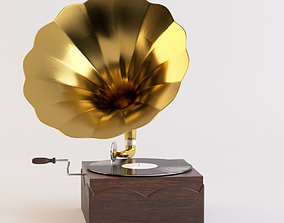 Gramophone 3D animated