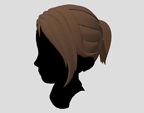 3D model Female Hair Ponytail