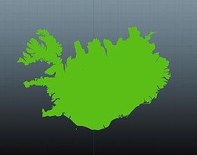 3D Iceland map symbol