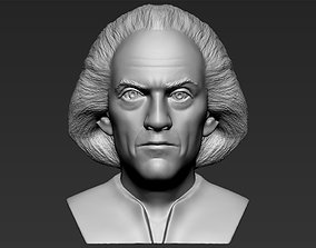 Dr Emmett Brown Back to the Future bust 3D printing
