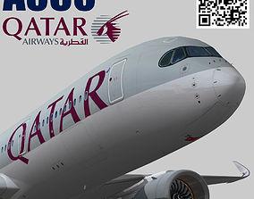 3D asset Airbus A350-900 XWB Qatar airways