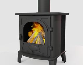 Wood Burning Stove 3D model