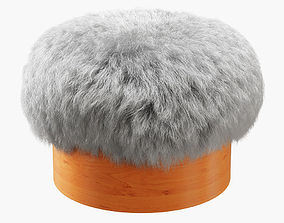 3D Sheepskin Footstool-01