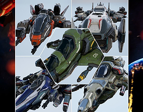 Spaceships Essential Pack - game models 3D asset