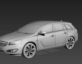 3D model Vauxhall Insignia Sports Tourer 2013 Facelift