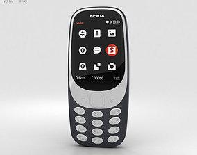 3D model Nokia 3310 2017 Dark Blue