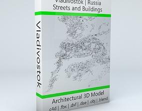 3D model Vladivostok Streets and Buildings