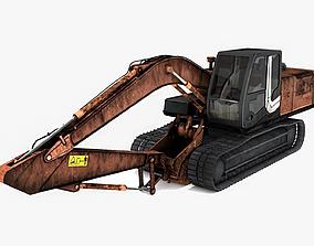 Excavator - Low Poly 3D model