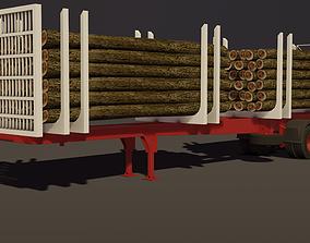 3D model Montenegro Logging trailer