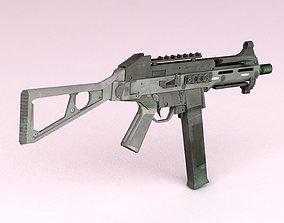 Submachine Gun 3D model VR / AR ready