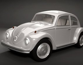 1969 VW Beetle with Full Interior 3D model