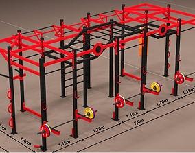 Crossfit Mural gym - gym design -dwg dxf pdf model