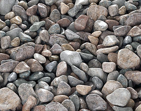 3D Pebble road color
