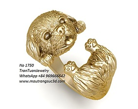 1750 Super Cute Dog Ring 3D print model