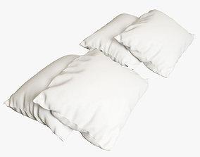 3D model 4 pillows