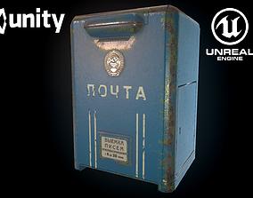 Soviet mailbox 3D model low-poly