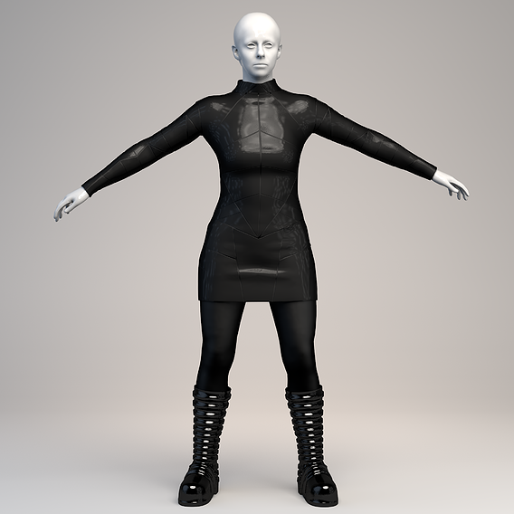 Female Outfit in Marvelous Designer