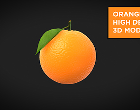 Orange High Detail 3D model