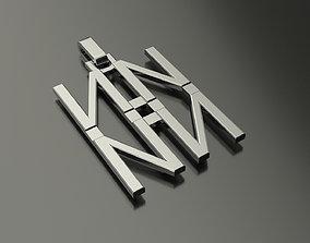 Pinwheel Letter N Necklace 3D print model