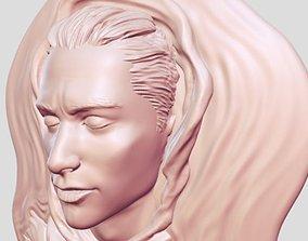 3D printable model man face head decoration