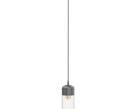 lightbulb Black Hanging Lamp 3D Model