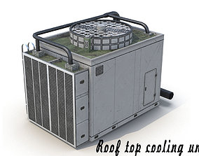 Rooftop Air Conditioner Unit 3D asset