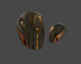 Sci-fi Helmet 3D asset