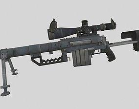 3D model low-poly Cheytac M200