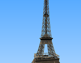 3D model Simple low-poly Eiffel Tower Paris
